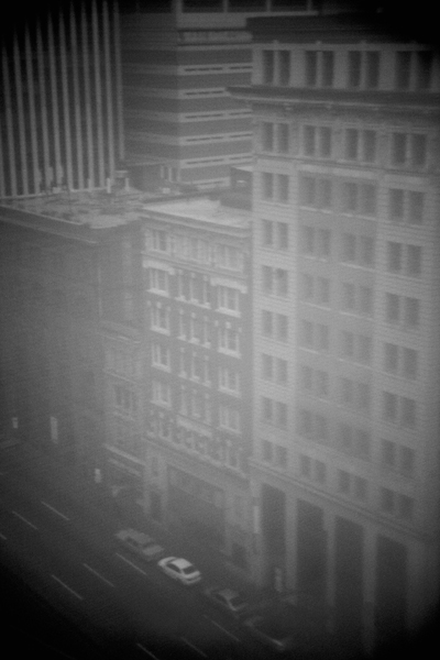 Michael Ast, Trying to Find the Ocean, Baltimore, urban, city, city life, aerial, hotel, apartments, complex, highrise, windows, fog, dawn, michaelast, parked, vacant, ghost, self-published
