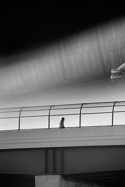 Michael Ast. Trying to Find the Ocean, photobook, Mark Alice Durant, Baltimore, MD, overpass, traffic, book cover, photo book, michaelast, ominous, urban, city, pedestrian, reflection, silohuette, traffic, vignette, driving, driveby, self-published