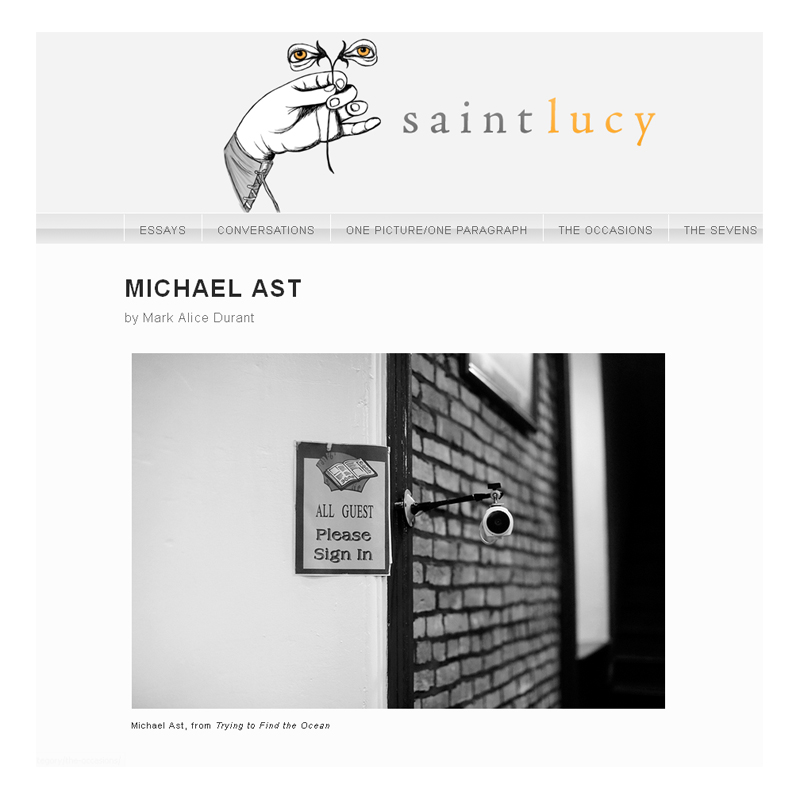 Michael Ast, Mark Alice Durant, Saint Lucy, Trying to Find the Ocean, photography essay, Baltimore, photobook, afterword essay
