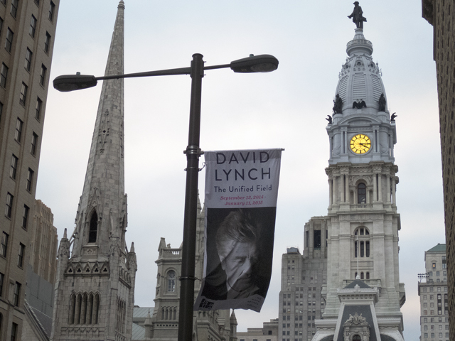 "David Lynch, PAFA, City Hall, Philadelphia, Unified Field, paintings, mixed media, artist, filmmaker, director, ""Michael Ast"""