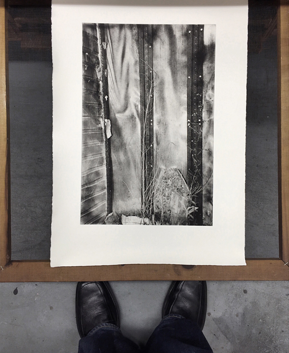 Michael Ast, photopolymer etching, printmaking, hand-pulled print