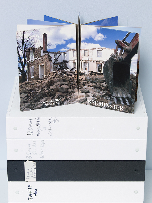 Michael Ast, leporello, Bedminster, Pennsylvania, Bucks County, handmade book, artist book, changing landscape, altered landscape, PA, artist photography book