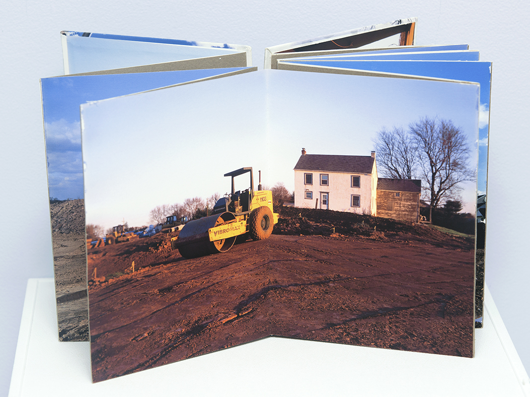 Michael Ast, leporello, Bedminster, Pennsylvania, Bucks County, handmade book, artist book, changing landscape, altered landscape, PA, artist photography book, historical ruin