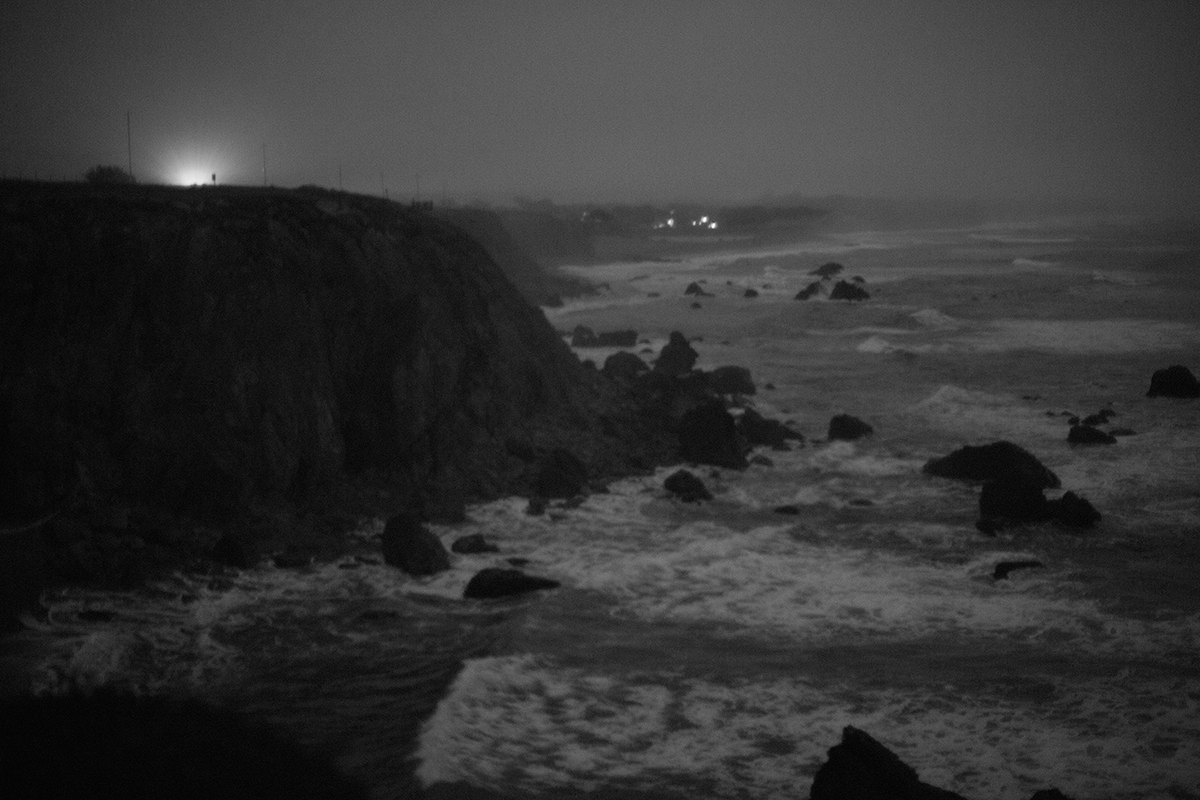 Michael Ast, Sonoma County, Sonoma, twilight, Pacific Route 1, Route 1, Pacific ocean, Pacific, coastline, coast, ocean, bluff, outcrop, editing, artist statement, brainstorming, insight