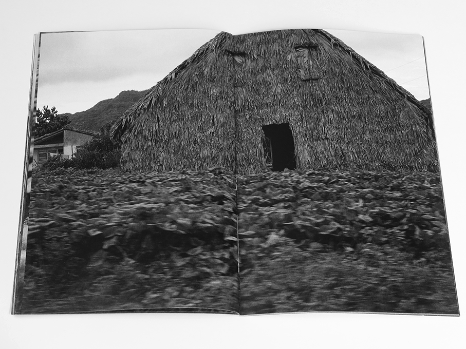 These Windows Are Tinted To Help You Sleep, Michael Ast, zine, Cuba, Vinales, road trip, low-fi, self-publish, photozine, black and white photography, visceral, stream of consciousness, driveby, tinted windows, blur, barn, thatch, tobacco drying barn
